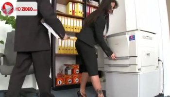 Hot Silvia Saige hardcore office fuck with horny employee