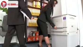 Hot Silvia Saige hardcore office fuck with horny employee
